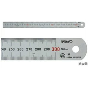 ヤマヨ ステンレス直定規 シルバー直尺 60cm JIS1級硬質クロムメッキ梨地仕上げ