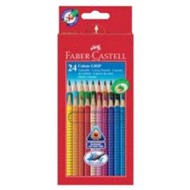 【メール便可】 ファーバーカステル カラーグリップ色鉛筆 24色(紙箱入) 112424 (水彩色鉛筆/レッドライン/赤カステル)