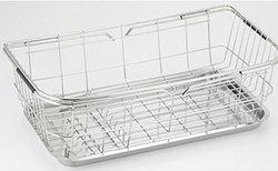 SALUS(セーラス)スライド式バスケット スリム/ステンレス製,キッチン用品,台所用品,シンク周り,キッチン収納,すらいど,バスケット[kit]