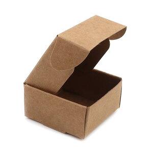 約40×40×20mm 5枚入 ギフトボックス 正方形 組み立て式 ライトブラウン / 箱 小箱 クラフトボックス アクセサリーボックス box ラッピング 材料 備品 プレゼント 包装 ナチュラル【ゆうパケット