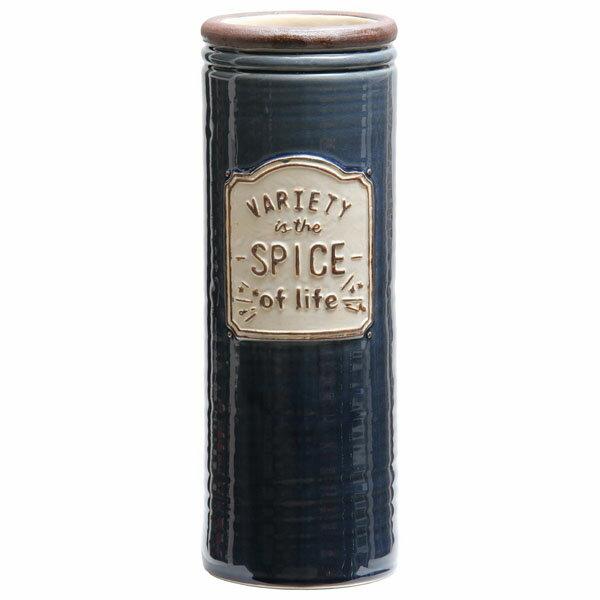 不二貿易 陶製 傘立てスパイス ネイビー 14255