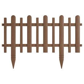 リッチェル ガーデンフェンス かきね 60H型 60×1.5×40Hcm BR ブラウン 2枚入