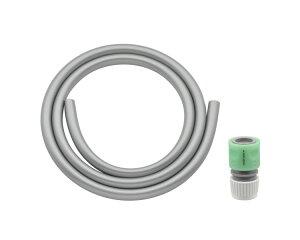 ガオナ ホース 4m ホーセンド付き (散水 内径15ミリ 耐候性 防藻 シルバー) GA-QD014