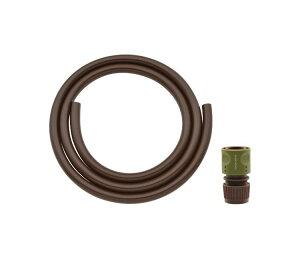 ガオナ ホース 2m ホーセンド付き (散水 内径15ミリ 耐候性 防藻 ブラウン) GA-QD032