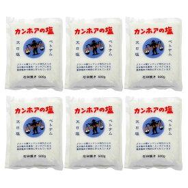 カンホアの塩 石臼挽き 500g 6袋セット 【 カンホア の塩 石臼挽き カンホアの塩 】