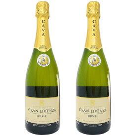 カヴァ グランリベンサ ブリュット 750ml 2本セット (スペイン スパークリングワイン 辛口)【 あす楽 】【 スパークリングワイン 辛口 白 スペイン 】
