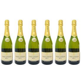 カヴァ グランリベンサ ブリュット 750ml 6本セット (スペイン スパークリングワイン 辛口)【 あす楽 】【 スパークリングワイン 辛口 白 スペイン 】