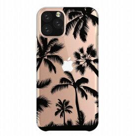 全機種対応 iPhoneSE(第2世代) iPhone11 X/XS Max対応 クリアケース スマホケース ハードケース arrows 5G Xperia 1 II 10 AQUOS sense3 Galaxy S20+ SE2 アイフォン アンドロイド携帯対応 ヤシの木 西海岸 モノクロ ハワイアン カリフォルニア