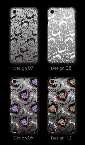 全機種対応ケースゾンビーラブbyベティーブープ(TM)ハードケースクリアタイプキャラクターベティーちゃんグッズスマホケーススマホカバー正規品BettyBoop(TM)送料無料おしゃれ可愛い人気iphoneアイフォンXカバークリアケースアイフォンXS対応
