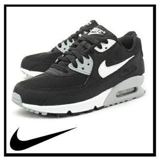 耐克耐克空气最大 90 基本 Air Max 基本妇女运动鞋黑/白狼灰色 (黑色/白色/灰色) 616730 012 国家组成冰箱 / 可以发送提示