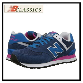 New Balance 574 Wl574moy Womens Shoes Sneakers Blue Pink Glo White Navy W574 Wl574