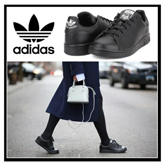 【あす楽対象】【希少なレディースサイズ】adidas Stan Smith J Sneaker アディダス スタンスミス レディース シューズ スニーカー BLACK/BLACK/FTWWHT (黒) ブラック M20604 【国内即納】【正規品】【外箱ダメージあり】
