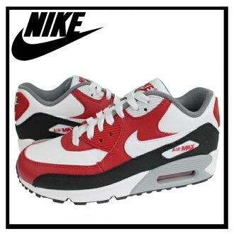 能马上发出NIKE(耐克)AIR MAX 90 LEATHER(空气最大90 LTR)女子的运动鞋(WHITE/WHITE-GYM RED-BLACK)白/红(724821 102)