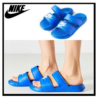 NIKE (Nike) WOMENS BENASSI DUO ULTRA SLIDE (Benassi Duo Ultra slide) women's healthy shower Sandals (RACER BLUE/WHITE) blue/white (819717 400) ENDLESS TRIP (endless trips)