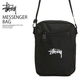 STUSSY ステューシー ミニショルダーバッグ 送料無料 STOCK MESSENGER BAG ストック メッセンジャー バッグ メンズ レディース フェスティバルバッグ BLACK (ブラック) ST791019 BLK ENDLESS TRIP ENDLESSTRIP エンドレストリップ