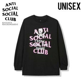 【日本未入荷!】ANTI SOCIAL SOCIAL CLUB (アンチソーシャルソーシャルクラブ) NEIGHBORHOOD BLACK JACK BLACK LONG SLEEVE TEE (ネイバーフッド ブラック ジャック ブラック スリーブ Tシャツ) トップス メンズ レディース ロンT blackjackblacklongsleeve dpd