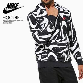 【希少! ユニセックス (メンズモデル) 】 NIKE(ナイキ)NSW CLUB HOODIE PO BB AOP 2 (クラブ フーディ) パーカー フーディー トップス メンズ レディース BLACK/WHITE (ブラック/ホワイト) 総柄 CK2230 010