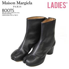 【希少! 大人気!】Maison Margiela (メゾン マルジェラ) WOMENS TABI BOOTS (ウィメンズ タビ ブーツ) 足袋 レディース シューズ 靴 本革 イタリア製 黒 BLACK (ブラック) S58WU0246 PR516 T8013