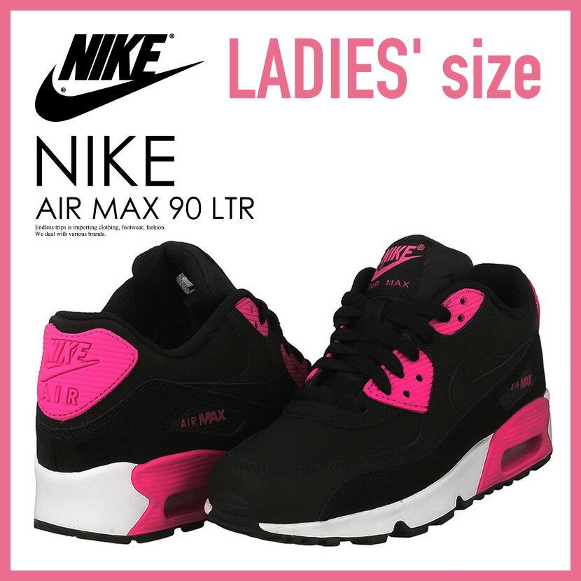 【希少! 大人気! レディース サイズ】 NIKE(ナイキ)AIR MAX 90 LEATHER (GS) (エア マックス 90 レザー) WOMENS ウィメンズ スニーカー BLACK/PINK PRIME-WHITE (ブラック/ピンク/ホワイト) 833376 010 ENDLESS TRIP ENDLESSTRIP エンドレストリップ