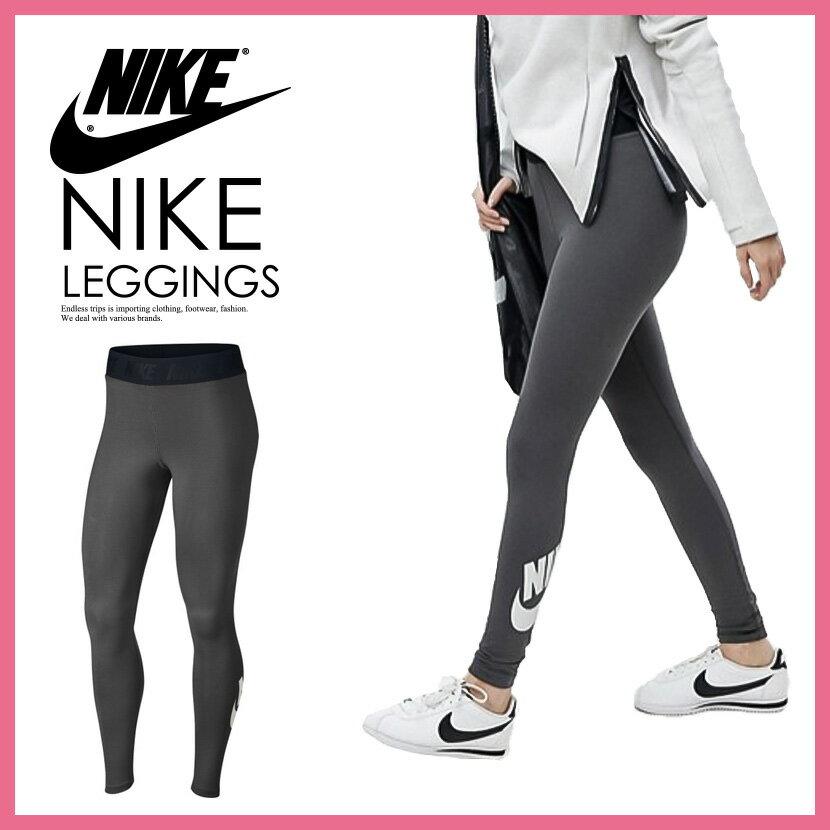 【日本未発売! 海外限定! レディース】NIKE(ナイキ) WOMENS LEG-A-SEE LOGO HIGH WAIST LEGGINGS (レガシー ロゴ ハイウエスト レギンス)ウィメンズ DARK GREY/WHITE (ダークグレー/ホワイト) 933346 038