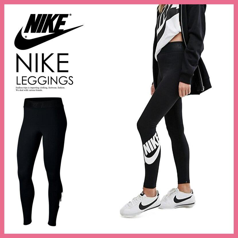 【日本未発売! 海外限定! レディース】NIKE(ナイキ) WOMENS LEG-A-SEE LOGO HIGH WAIST LEGGINGS (レガシー ロゴ ハイウエスト レギンス)ウィメンズ BLACK/WHITE (ブラック/ホワイト) 933346 010