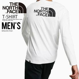 【希少!入手困難!ユニセックス】THE NORTH FACE (ノースフェイス) LONG SLEEVE EASY (ロング スリーブ イージー) 長袖 Tシャツ ロンT メンズ レディース カットソー トップス TNF WHITE (ホワイト) NF0A2TX1FN41 (T92TX1FN4) エンドレストリップ