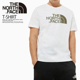 お買い物マラソン!【希少! 大人気!】THE NORTH FACE (ノースフェイス) S/S EASY TEE (イージー ティー) Tシャツ 半袖 カットソー トップス メンズ TNF WHITE/BURNT OLIVE GREEN RAIN CAMO PRINT (ホワイト) NF0A2TX3PW2 (T92TX3PW2) エンドレストリップ dpd