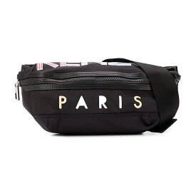 【入手困難! 希少!】 KENZO(ケンゾー) PARIS LOGO CROSS BODY BAG (パリス ロゴ クロス ボディ バッグ) メンズ レディース ショルダーバッグ ボディバッグ ウエストバッグ BLACK (ブラック) FA55SF212F2699 ENDLESS TRIP ENDLESSTRIP