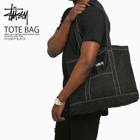【日本未入荷 希少】STUSSY (ステューシー) STOCK TOTE BAG (ストック トート バッグ)トートバッグ バッグ A4サイズ BLACK ブラック ST7L0079 BLACK ENDLESS TRIP