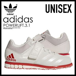 adidas(愛迪達)POWERLIFT.3.1(功率纜車)menzuredisupawarifutinguueitorifutingu舉重鞋CHALK PEARL/SCARLET(珍珠/紅)CQ1773