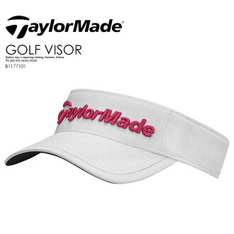 TaylorMade (tailor maid) PERFORMANCE RADER VISOR (performance radar visor) hat sun visor men gap Dis WHTE/RSBRY (white / raspberry) B1177101 ENDLESS TRIP end rest lip