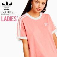 【希少!入手困難!レディースTシャツ】adidas(アディダス)WOMENS3-STRIPESTEE(3ストライプスTシャツ)LADYSウィメンズTシャツ半袖ロゴカリフォルニアTACTILEROSE(ローズ)ピンクDH3186ENDLESSTRIP