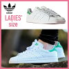 adidas ORIGINALS adidas STAN SMITH W Stan Smith Womens shoes unisex sneaker FTWWHT/FTWWHT/GREEN white green (M19585) (endless trips)