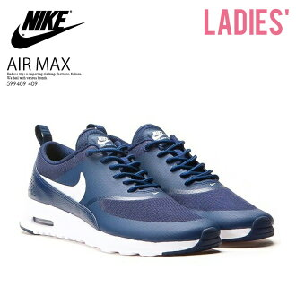 NIKE (Nike) WOMENS NIKE AIR MAX THEA (Air Max THEA) Lady's high technology sneakers sneakers (OBSIDIAN/WHITE) navy / white (599409 409) ENDLESS TRIP pickup