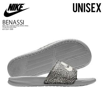 85b0a24b681b21 NIKE (Nike) BENASSI JDI PRINT (ベナッシプリント) shower sandals Hel sea sandals men  gap Dis sandals WOLF GREY SUMMIT WHITE (gray   white) 631261 008 ENDLESS ...