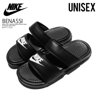NIKE (Nike) WOMENS BENASSI DUO ULTRA SLIDE (Benassi Duo Ultra slide) women's healthy shower Sandals (BLACK/WHITE) black/white (819717 010) ENDLESS TRIP (endless trips)