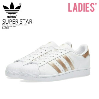 adidas (Adidas) SUPERSTAR W (superstar) WOMENS women sneakers shoes FTWWHT/SUPCOL/FTWWHT (white / Rose metallic) BA8169