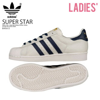 adidas (Adidas) SUPERSTAR J (superstar) Lady's sneakers shoes CWHITE/CONAVY/GOLDMT (white / navy / gold) BW0612 ENDLESS TRIP (endless trip)