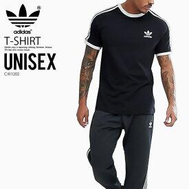 希少! 入手困難! ユニセックス Tシャツ adidas (アディダス) 3-STRIPES TEE (3ストライプス Tシャツ) MENS LADYS メンズ レディース Tシャツ 半袖 カリフォルニア BLACK (ブラック) CW1202 ENDLESS TRIP ENDLESSTRIP
