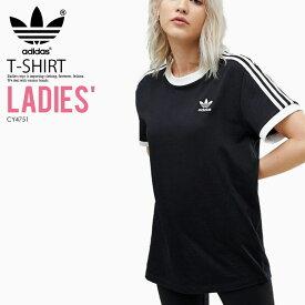 日本未入荷! 海外限定! レディース モデル adidas (アディダス) WOMENS 3-STRIPES TEE [3-STRIPES TEE] (スリーストライプス Tシャツ) 半袖 ウィメンズ WOMENS カリフォルニア BLACK (ブラック) CY4751
