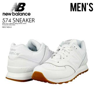 NEW BALANCE 574 new balance NB574BAA men's leather shoes sneakers WHITE/GUM (white/gum) M574 ML574