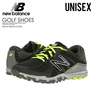 沒有NEW BALANCE(新平衡)NBGW1005 MINIMUS GOLF SHOES(小鱒魚高爾夫球鞋)WOMENS女士MENS人釘鞋的BLACK/LIME(黑色/酸橙)NBGW1005 BLACK/LIME ENDLESS TRIP(永無休止的旅行)