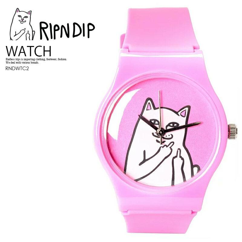 【希少!大人気! 時計】 RIPNDIP(リップンディップ)Lord Nermal Watch ユニセックス レディース ウィメンズ メンズ 時計 腕時計 キャット 猫 ネコ PINK (ピンク) ENDLESS TRIP ENDLESSTRIP エンドレストリップ