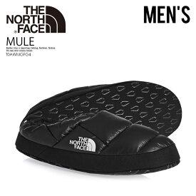 【日本未入荷! 希少! メンズ サンダル】 THE NORTH FACE (ザ ノース フェイス) MEN'S NSE TENT MULE III SLIPPERS (テント ミュール スリッパ) キルティング スリップ オン スリッポン SHINY BLACK/BLACK ブラック T0AWMGFG4 ENDLESS TRIP