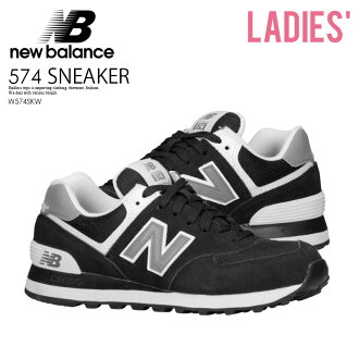 Limited time sale! NEW BALANCE 574 new balance W574SKW Womens Shoes Sneakers BLACK/WHITE (black/white) W574 WL574 KL574SKG