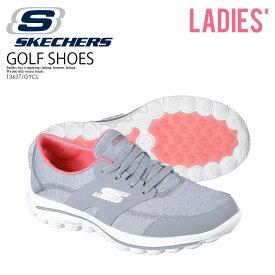 【日本未入荷!希少!レディース ゴルフシューズ】 SKECHERS (スケッチャーズ) GO WALK 2 GOLF (ゴー ウォーク ゴルフ) スパイクレス スニーカー GRAY/CORAL (グレー/コーラル) 13637/GYCL ENDLESS TRIP ENDLESSTRIP エンドレストリップ