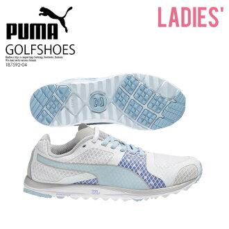 沒有PUMA(彪馬)FAAS XLITE WOMENS(獨幕喜劇X燈)高爾夫球釘鞋的WHITE-OMPHALODES-ULTRAMARINE(白/群青)藍色187592-04 ENDLESS TRIP ENDLESSTRIP結束休息嘴唇