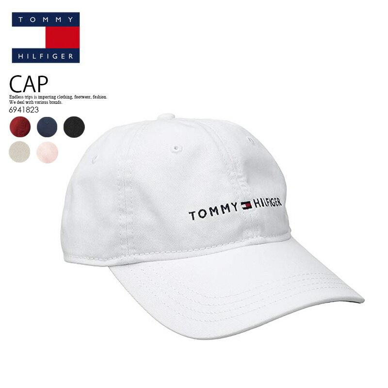 【希少!!大人気!キャップ】 TOMMY HILFIGER (トミー ヒルフィガー) LOGO DAD BASEBALL CAP (ロゴ ダッド ベースボール キャップ) メンズ レディース 帽子 6941823 100 (ホワイト)/ 416 (ネイビー)/ 608 (レッド)/ 017 (ブラック)/ 270 (ストーン)/ 681 (クリスタル ローズ)