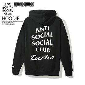 【日本未入荷!入手困難!】ANTI SOCIAL SOCIAL CLUB (アンチソーシャルソーシャルクラブ) NEIGHBORHOOD (ネイバーフッド) コラボ 911 HOODY フーディ トップス メンズ レディース パーカー 裏起毛 BLACK (ブラック) 911hoodyblack エンドレストリップ dpd