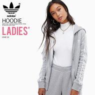 【大人気!入手困難!レディースモデル】adidas(アディダス)WOMENS3STRIPESZIPHOODIE(3STRZIPHOODIE)(スリーストライプスジップフーディ)長袖パーカートップスジップアップレディースウィメンズMEDIUMGREYHEATHER(グレー)DN8155ENDLESSTRIP